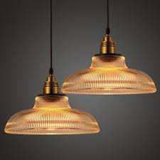 Industrial Glass Pendant Lights Antique Industrial Glass Pendant Light Vintage Retro L Shade