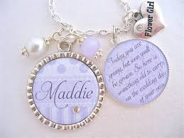 flower girl necklace images Flower girl gift childrens wedding jewelry personalized flower jpg