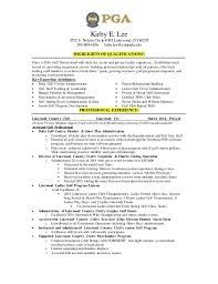 Highlights On A Resume College Golf Resume Best Resume Collection
