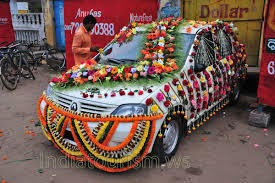 indian wedding car decoration this wedding car is nicely decorated puri orissa