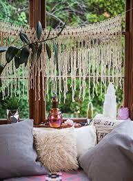 Wedding Backdrop Amazon Amazon Com Bohemian Macrame Wall Hanging Or Window Curtain