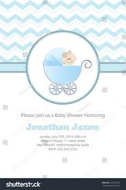 Baby Shower Invitation Cards Baby Boy Baby Shower Invitation Card Stock Vector 244737424