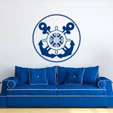 online get cheap nautical wall decals aliexpress com alibaba group nautical wall decal anchors stickers ship wheel decor blue wall stickers for kids room boy bedroom