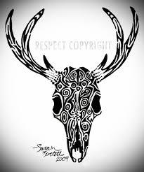 deer skull since the tribal tattoos i did on my han flickr
