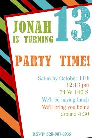 birthday invite template invitation sles for party luxury free printable birthday