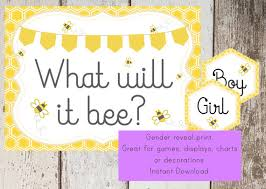 what will it bee baby shower bumble bee baby shower printable sign baby bee bumble bee