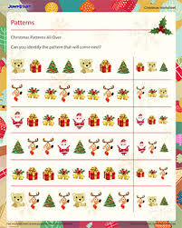 christmas patterns all over free pattern recognition worksheet
