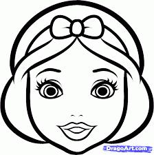 draw snow white easy step step disney princesses