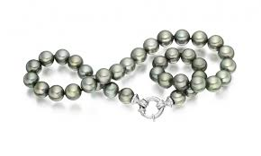 choker necklace pearl images Grey tahitian pearl choker in white gold winterson jpg