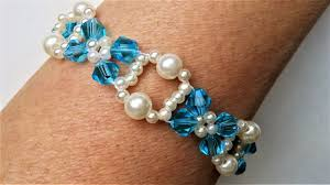 bead tutorials crystal bracelet images Crystal bicone beads jewelry tutorial pearls and bicone beads jpg