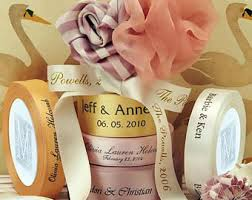 printed ribbons for favors personalized ribbon etsy
