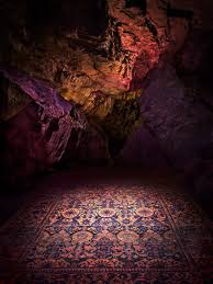 abc carpet u0026 home showcases new rug collection in underground cave