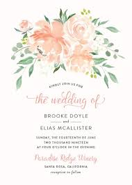 bridal invitation wedding invitations with free customization elli