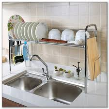 Kitchen Dish Rack Ideas Dish Drying Rack Sink Sinks And Faucets Home Design Ideas