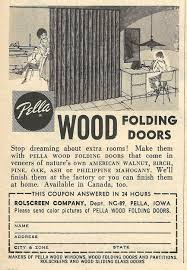 Funny Door Stops Old Ads Are Funny 1962 Ad Pella Wood Folding Doors