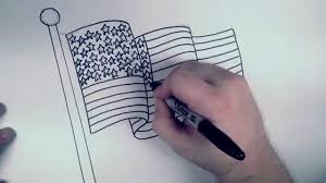 American Flag Awesome How To Draw An American Flag Rbh Youtube