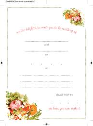 Blank Wedding Invitation Card Stock Wedding Invitation Templates That Are Cute And Easy To Make