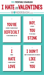 funny valentines free printable labels cards parties full of