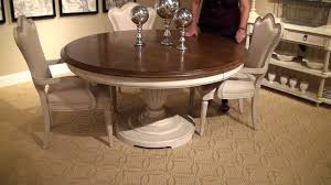 Provenance RoundOval Pedestal Dining Table By ART Furniture - Art dining room furniture