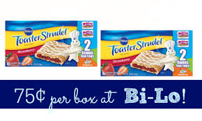Pillsbury Toaster Strudel Flavors Pillsbury Toaster Strudel Coupon Makes It 75 At Bi Lo