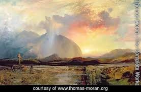 Old Rugged Cross Thomas Moran The Complete Works Sunset Vespers At The Old
