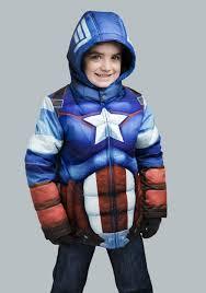 kids captain america puffer superhero jacket