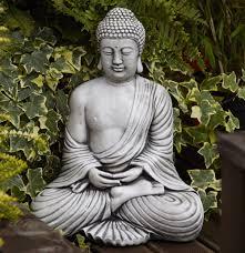 borderstone fan buddha garden ornament gardening ideas