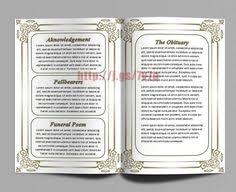 free funeral memorial order of service program obituary template