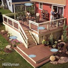 How To Build A Handrail On A Deck Deck Railing The Family Handyman
