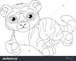 tiger coloring page stock vector 437750557 shutterstock