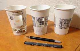 cool cups cool anime inspired cartoon art drawn on paper cups neatorama