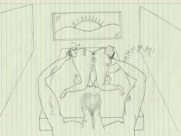 Drawing Of A Bed Drawing In Bed Getpaidforphotos Com