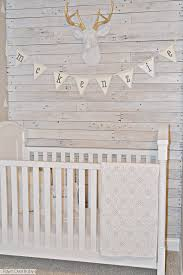 fawn baby diy white washed pallet wall