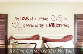 the love of a life time is worth at least a million tries with the love of a life time is worth at least a million tries with hearts a wall decor vinyl lettering decal 2250