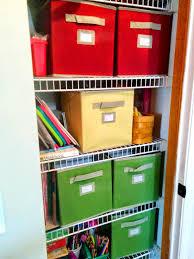 closet organization kids art supply organization closet