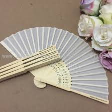 wedding fan favors free shipping 100pcs lot personalized white silk fan silk