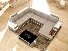 Modern Leather Sectional Sofa Modern Sectional Sofa Black U0026 Off White Italian Leather Mbox
