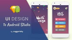 sketch app ui design to android xml tutorial youtube
