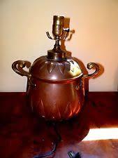 Arts And Crafts Desk Lamp Hammered Copper Lamp Ebay