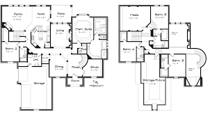 5 bedroom floor plans five bedroom house plans two story unique