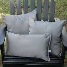 charcoal sunbrella outdoor throw pillow