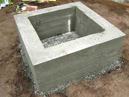 cast concrete fire pit fire pit landscaping ideas design