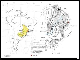 south america dot map a the paraná sedimentary basin within the south american