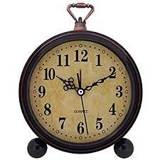 desk clock amazon com kiaotime retro vintage table clock decorative table