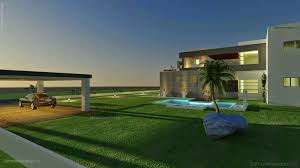 Home Design 3d Elevation by 3d Front Elevation Com 500 Square Meter Modern Contemporary House