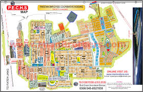 Islamabad Map Site Plan Map Of Pechs Pakistan Employees Housing Islamabad