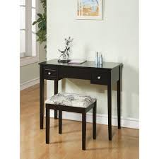 Linon Home Decor Vanity Set With Butterfly Bench Black Linon Home Butterfly Vanity Set With Flip Top Mirror And Stool