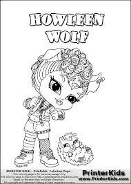monster high chibi coloring pages baby monster high coloring pages monster high howleen wolf baby