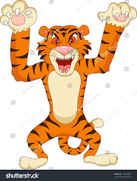 tiger cartoon stock vector 147618851 shutterstock