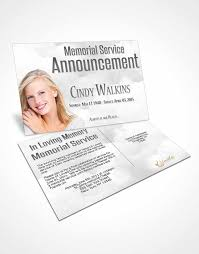 bifold order of service obituary template brochure natural